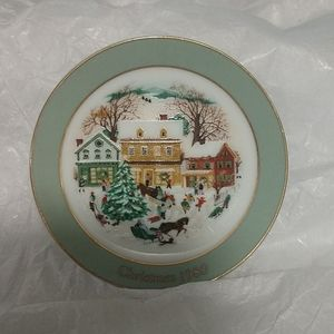1980 Avon Mini Country Christmas Plate Ornament